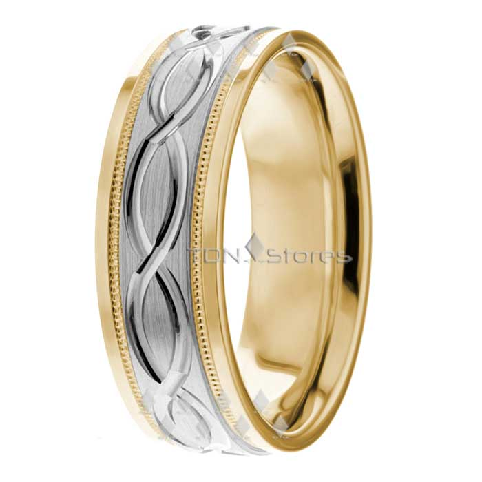 14K Gold Celtic Wave Wedding Bands Rings Celtic Mens Womens Wedding Bands Rings